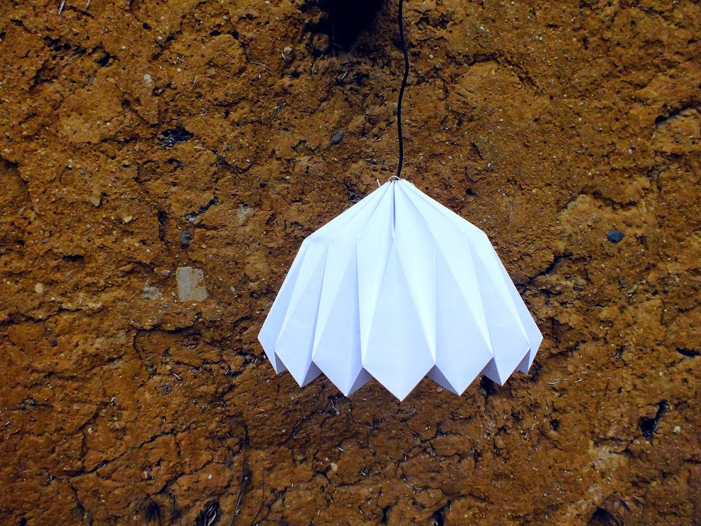 Abażur origami