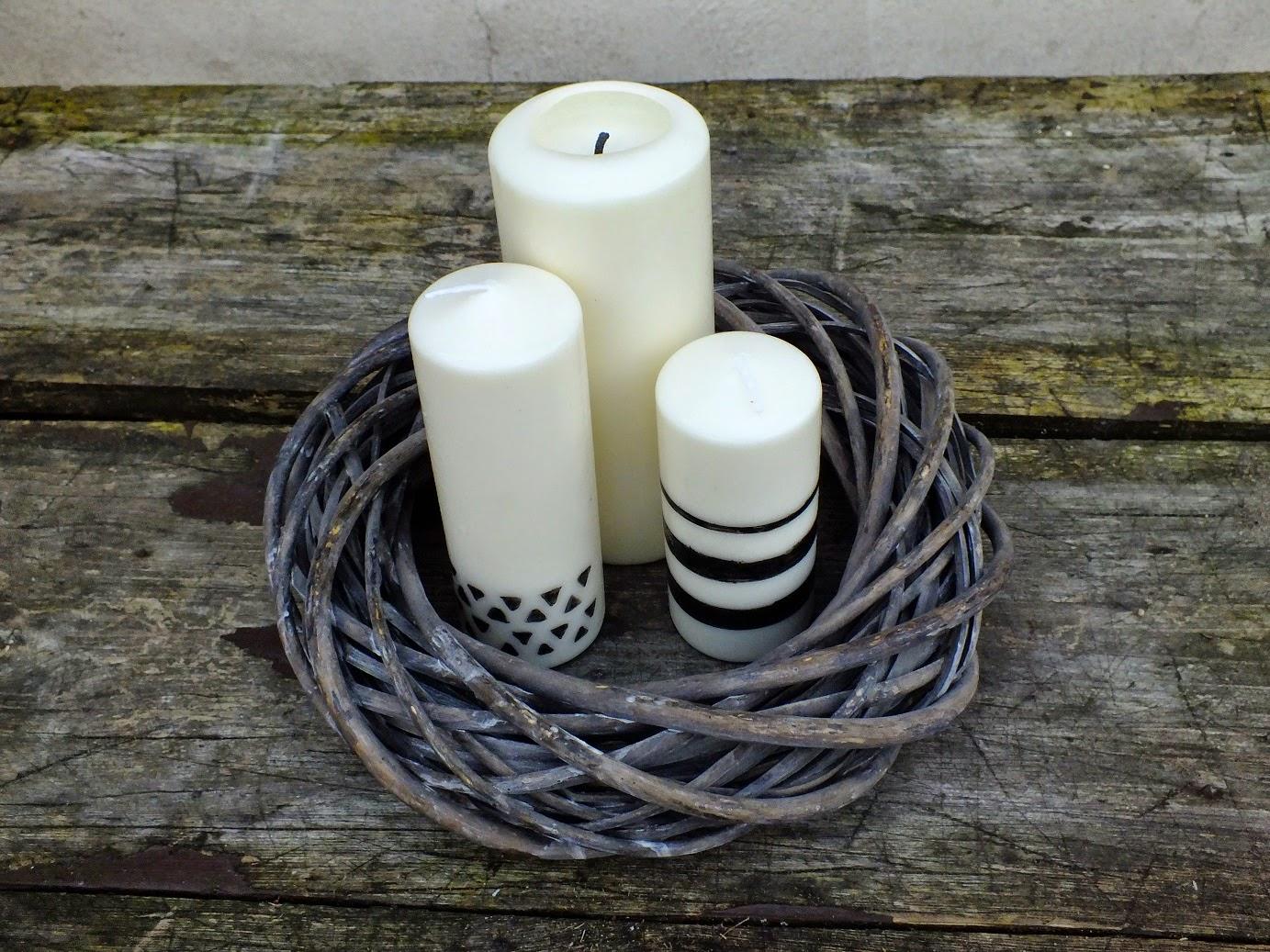 Malowane świeczki