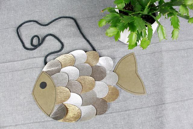 Jak uszyć torebkę w kształcie ryby DIY + wykrój do pobrania
