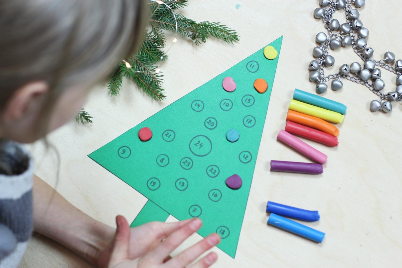 Kalendarz adwentowy DIY + szablon do druku