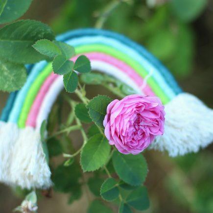 Tęcza ze sznurka DIY